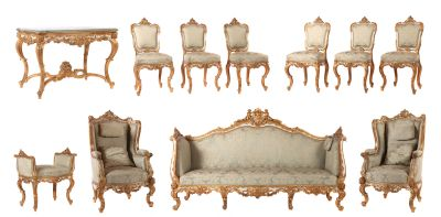 Pompous rococo style ameublement, second half of the 19th century, furniture, furnishings