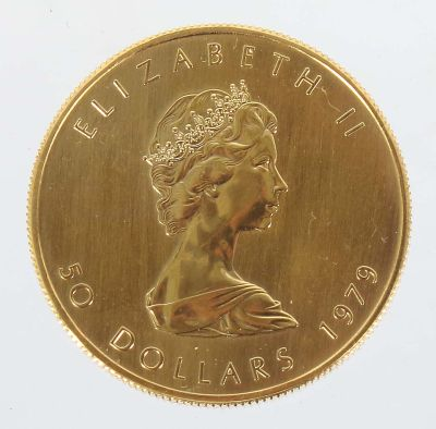 Maple Leaf Gold coin, Canada, 1979, Coins
