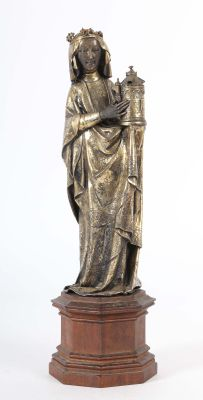 Saint Barbara, probably Hanau, around 1870, Silver