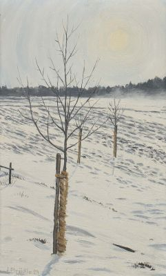 Jakob Bräckle, Winterlandschaft, dated 1929, Modern Paintings