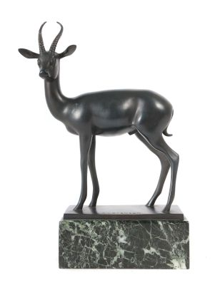 Armand Petersen, Antilope, moderne Skulpturen